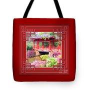 Chinese Pavilion Rhododendron Gardens Burnie Tasmania Tote Bag