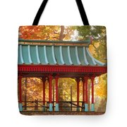 Chinese Pavillion In Tower Grove Park Tote Bag