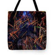 Asian Fir Needles On Ancient Round Tote Bag