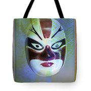 Chinese Porcelain Mask Tote Bag