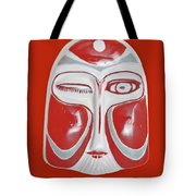 Chinese Porcelain Mask Red Tote Bag