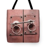 Chinese Red Door With Lock Tote Bag