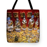 Chinese Religious Trinkets And Statues On Display In Xiamen Chin Tote Bag