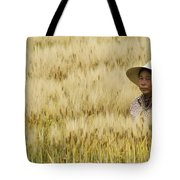 Chinese Rice Farmer Tote Bag