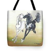 Chinese Running Horses Tote Bag