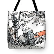 Chinese Style Watercolor Painting Tote Bag
