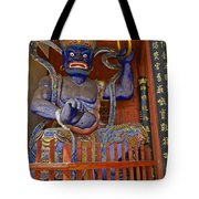Chinese Temple Guardian Tote Bag