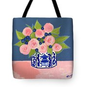 Chinoiserie Vase 2 Tote Bag