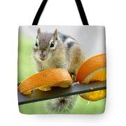 Chipmunk And Oranges 2 Tote Bag