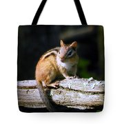 Chipmunk Portrait Tote Bag