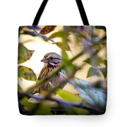 Chipping Sparrow In The Brush Tote Bag