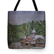Chirch Near Gorno-altaisk  Tote Bag