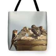 Chirping Swallows Tote Bag