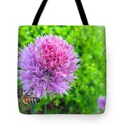 Chive And Bee Tote Bag