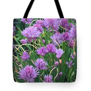 Chive Flowers Tote Bag