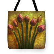 Chives Buds Tote Bag