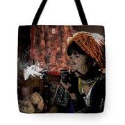 Cho Chin Woman Smoking  Tote Bag