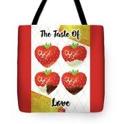 Chocolate - 7  Strawberry Tote Bag
