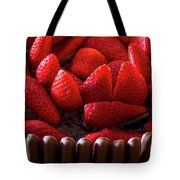 Chocolate And Strawberry Cake Tote Bag