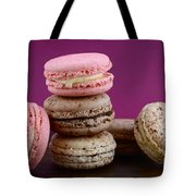 Chocolate And Strawberry Macaroons Tote Bag
