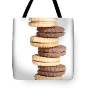 Chocolate And Vanilla Creamed Filled Cookies  Tote Bag