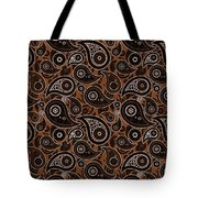 Chocolate Brown Paisley Design Tote Bag