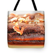 Chocolate Brownie With Nuts Dessert Tote Bag