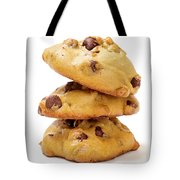 Chocolate Chip Cookies Isolated On White Background Tote Bag