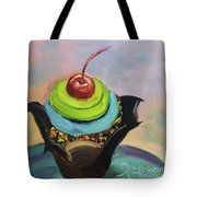 Chocolate Cupcake With Cherry Tote Bag
