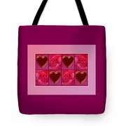Chocolate Hearts And Roses Tote Bag
