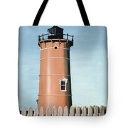 Chocolate Lighthouse Tote Bag