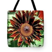 Chocolate Sunflower Tote Bag