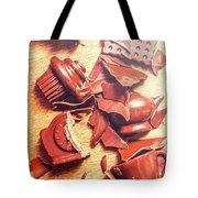 Chocolate Tableware Destruction Tote Bag