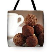 Chocolate Truffles And Coffee Tote Bag by Elena Elisseeva