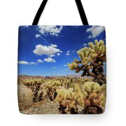 Cholla Cactus Garden In Joshua Tree National Park Tote Bag