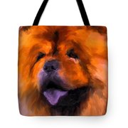 Chow Portrait Tote Bag