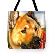 Chow Shepherd Mix Tote Bag