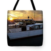 Chris Craft In The Evening  Tote Bag