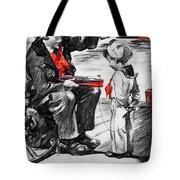 Chris-craft Sailor And Sailor Vintage Ad Tote Bag