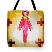 Christ And Crosses Tote Bag
