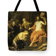 Christ And The Penitent Sinners Tote Bag