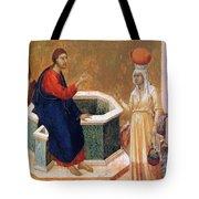Christ And The Samaritan Woman Fragment 1311 Tote Bag