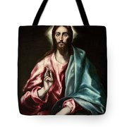 Christ As Saviour Tote Bag