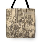 Christ At Emmaus Tote Bag