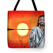 Christ At Sunrise Tote Bag