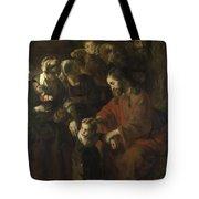 Christ Blessing The Children Tote Bag