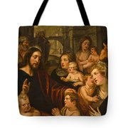 Christ Blessing The Children Tote Bag