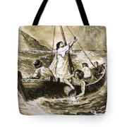 Christ Calming The Storm Tote Bag