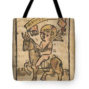 Christ Child On Donkey Tote Bag
