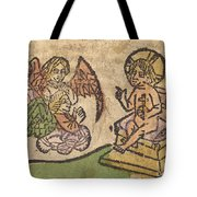 Christ Child With Three Angels Tote Bag